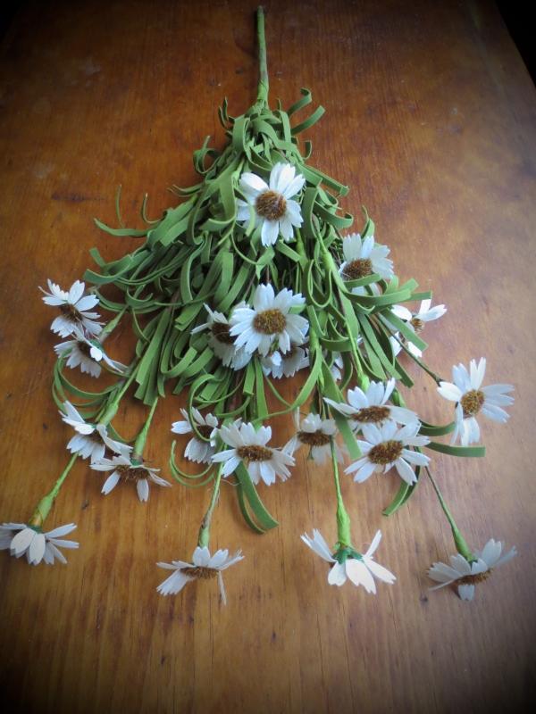 Realistic Country Flowers Herbs Berries Greenery Twigs